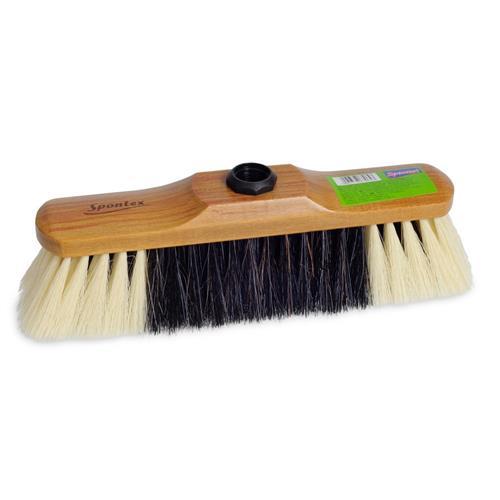 Spontex Wooden Broom Robust Stock 60012