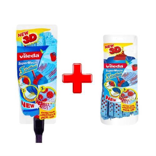 Vileda Set 3Action mop with stick + 3Action insert