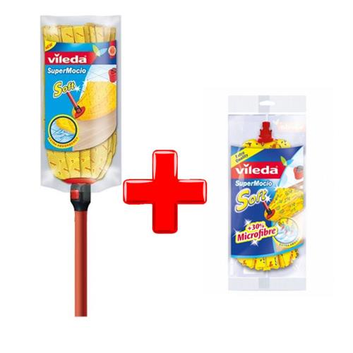 Vileda Set Soft mop with stick + refill