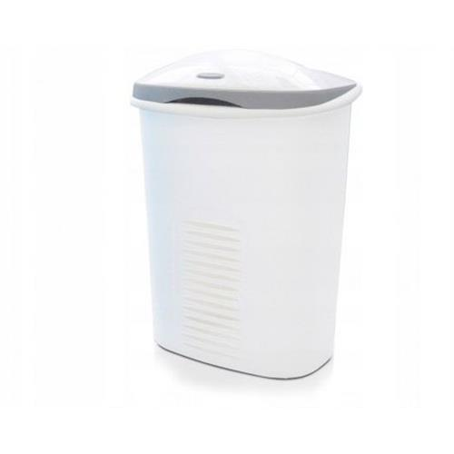 Laundry Basket Twin 60l Two Chambers White Meliconi