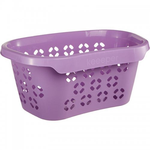 Keeeper Anton Laundry Basket 30.5l Lilac With Hip Support 1009
