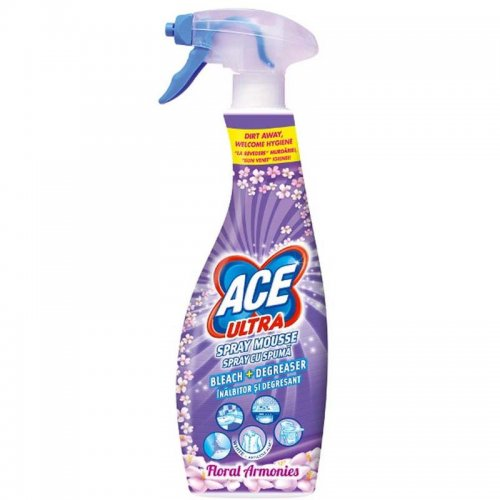 Ace Ultra Foam Stain Remover Spray 700ml Flower Purple Procter Gamble