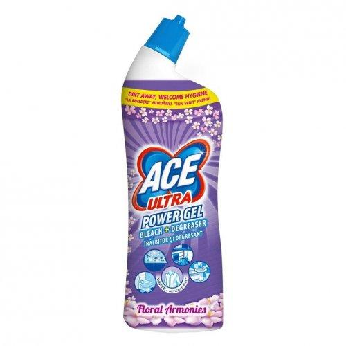 Ace Ultra Toilet Gel 750ml Flowers Purple Procter Gamble