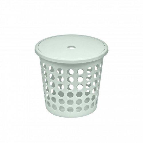 Plast Team Laundry Basket Medium 45l White 6009