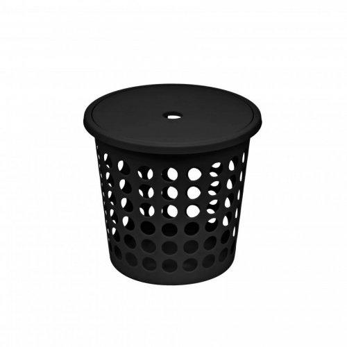 Plast Team Laundry Basket Medium 45l Black 6009