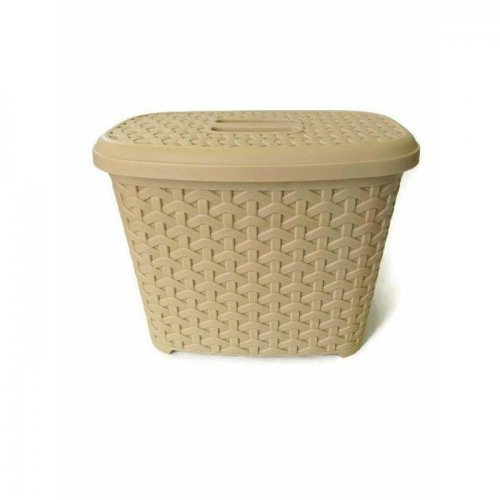 Detergent Container With Lid Rattan 6l 9233 Cream
