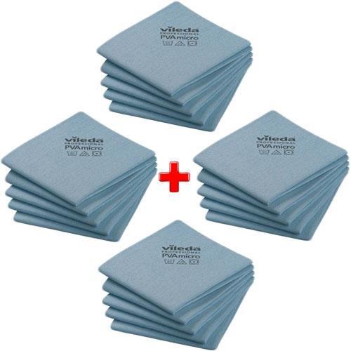 Vileda Set Cloth Pva Micro Blue 20pcs