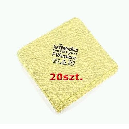 Vileda Cloth Set Pva Micro Yellow 20pcs