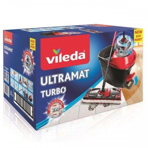 Vileda Ultramat Turbo Flat 163425 Mop + Bucket set