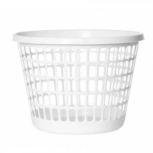 Plast Team Laundry Basket Round 32l White 1009
