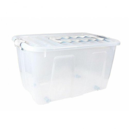 Plast Team Home Box Roll container. 86l With Handle 2227
