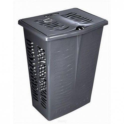 Branq Rectangular Laundry Basket Zebra 42l Anthracite 1403