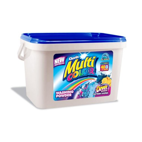 5kg Multicolor Powder Bucket Clovin
