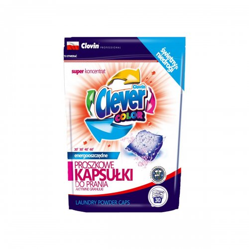 Herr Clever Color Washing Powder Capsules 30pcs x 18g