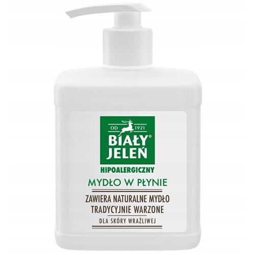 Hypoallergenic Liquid Soap 500ml Biały Jeleń