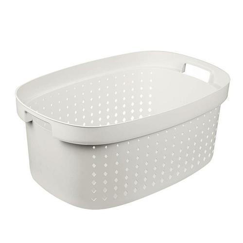 Plast Team Laundry Basket White 42l 6032