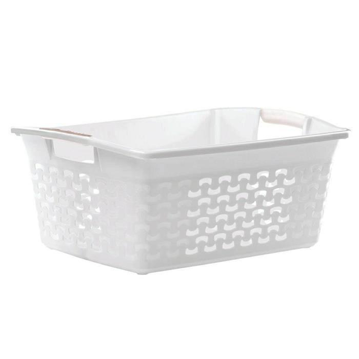 Laundry baskets - Branq Kosz Do Magla Cotton 30l 1415 Biel Antyczna -